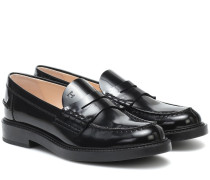 Loafers Spiga aus Lackleder