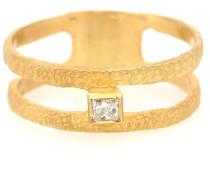 Vergoldeter Ring Roxy Graphic mit Diamant