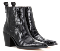 Ankle Boots Dahlia Croco aus Leder