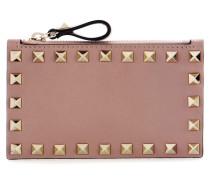 Garavani Verziertes Portemonnaie Rockstud aus Leder
