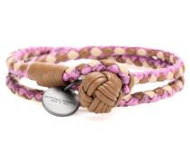 Intrecciato-Armband Knot aus Schlangen- und Lammleder