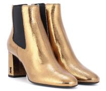 Ankle Boots Loulou 70 aus Metallic-Leder