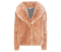 Jacke aus Strick und Faux Fur