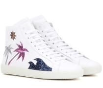 Verzierte Leder-Sneakers Classic Court SL/06M Sea, Sex & Sun