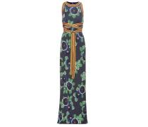 Bedrucktes Kleid Kelso aus einem Seidengemisch