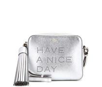 Schultertasche Have A Nice Day aus Metallic-Leder