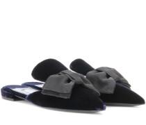 Verzierte Slippers aus Samt