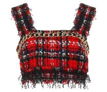 Verziertes Cropped-Top aus Tweed