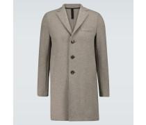 Einreihiger Mantel aus Kochwolle