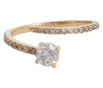 Ring Grass Seed aus 18kt Gelbgold mit Diamanten