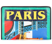 Clutch Bazar Paris aus Leder