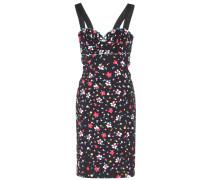 Bedrucktes Kleid aus Stretch-Baumwolle