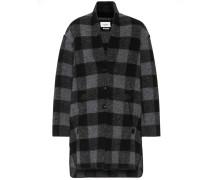 Karierter Mantel Gino aus einem Wollgemisch
