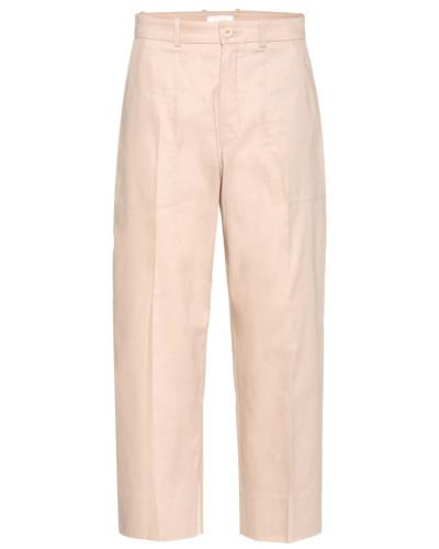 Cropped-Hose aus einem Baumwollgemisch