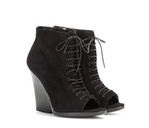 Open-Toe-Ankleboots Virginia Ari aus Veloursleder