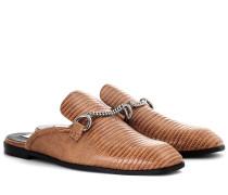 Slippers aus Lederimitat