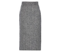 Verzierter Bleistiftrock aus Woll-Tweed