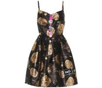 Verziertes Kleid aus Brokat