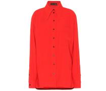 Oversize-Hemd mit Wollanteil
