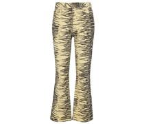 Bedruckte Flared Jeans
