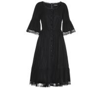 Kleid aus Stretch-Baumwolle mit Spitzenbesatz