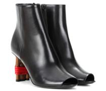 Peeptoe Ankle Boots Bistrot aus Leder