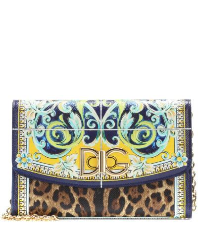 Rabatte Niedrige Versand Online Dolce & Gabbana Damen Bedruckte Schultertasche aus Leder Günstig Kaufen Billig Footlocker Günstiger Preis Jx0hKhcjc