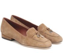 Loafers Charms aus Veloursleder