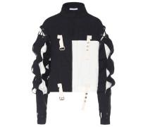 Verzierte Jacke aus Leinen und Baumwolle