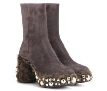 Ankle Boots mit Faux Fur
