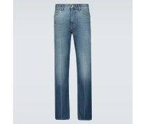 Straight Jeans mit Waschung