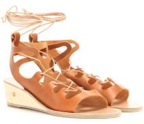 Wedge-Sandalen Antigone aus Leder