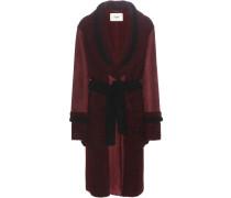 Mantel aus Veloursleder und Shearling