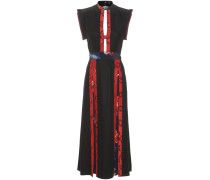 Rückenfreies Kleid aus Fil-Coupé-Seide