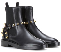 Verzierte Ankle Boots Classic aus Leder