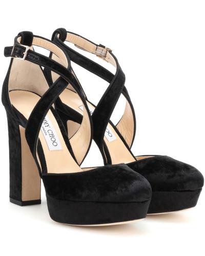 Sandaletten Joyce 120 aus Veloursleder
