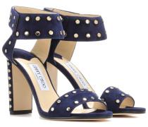 Verzierte Sandaletten Veto 100 aus Veloursleder