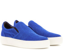 Slip-on-Sneakers aus Lamé