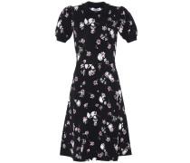 Kleid mit Puffärmeln und Blumenmuster