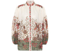 Bedruckte Bluse Empire Batik aus Ramie