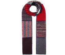 Patchwork-Schal aus einem Woll-Baumwollgemisch