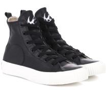 High-Top-Sneakers aus Leder