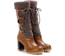 Stiefel aus Wolle und Leder