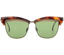 Sonnenbrille mit kantigem Rahmen