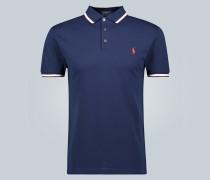 Slim-Fit-Poloshirt aus Baumwollmesh