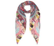 Bedruckter Schal aus Woll-Seidengemisch