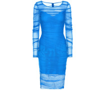 Gerafftes Kleid aus Mesh