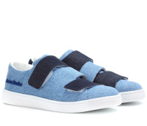 Triple denim sneakers