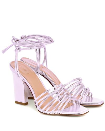 Sandalen Daisy aus Metallic-Leder