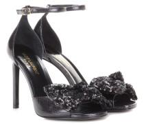 Verzierte Sandalen Jane 105 aus Leder
